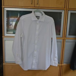 Michael Kors Men's button down white dress shirt